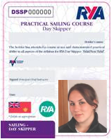 RYA Day Skipper Practical Course Certificate