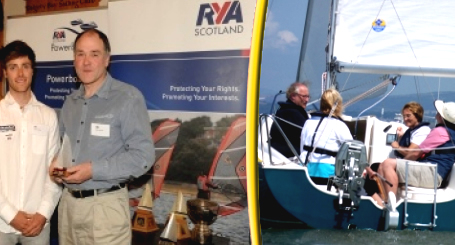 John Parlane Receives RYA Instructor of the Year Award from Olympic Medallist, Luke Patience
