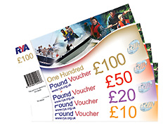 RYA Sailing, Yachting, Power Boating and Theory Gift Vouchers, Cards, Certificate, Xmas, Christmas, Birthdays, monetary value, gift card, lessons