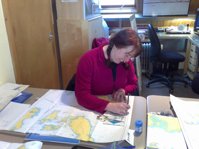 chartwork, navigation classes and tides, secondary ports