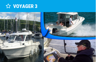 jeanneau merry fisher 725 for rya level 2, intermediate and advanced powerboat courses scotland