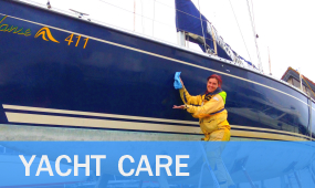 Hull Polishing, Cleaning, Waxing, AntiFouling, Scratch Repair, Valeting, YachtCare Plans
